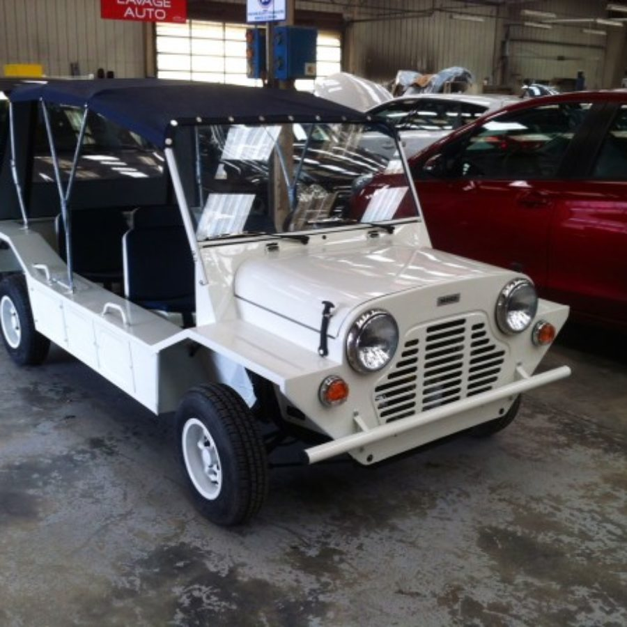 English Moke White Blue